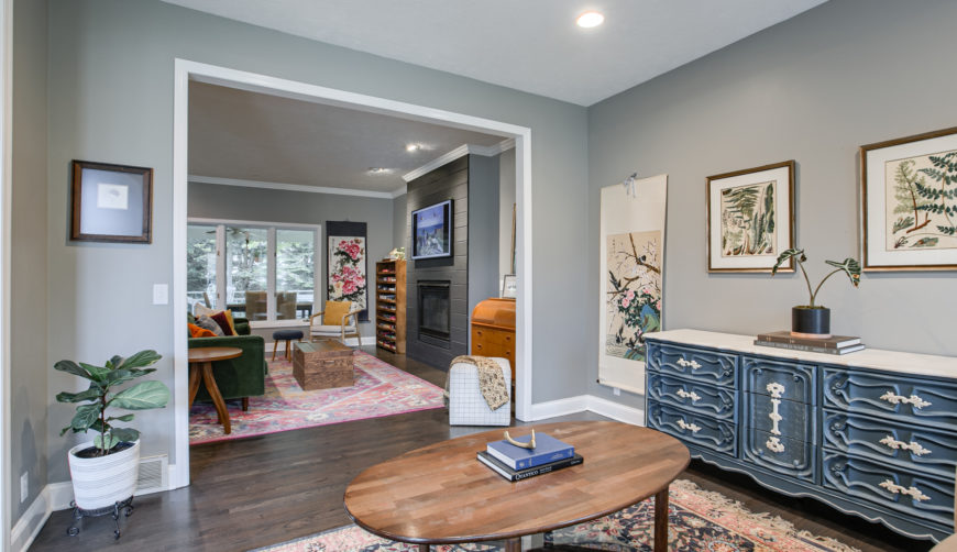 The Ridges homes for sale, Omaha, Nebraska, Elkhorn School District, 4 bedroom, 4 bathroom, 3 car garage, Hearth room opens to family room and kitchen