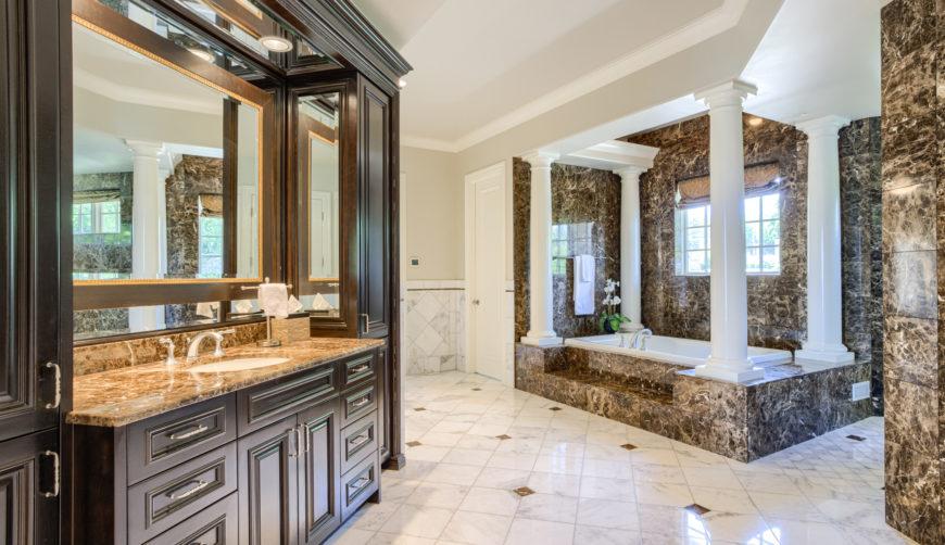 Marble Master Bathroom, Quartz Bathroom, Luxurious Bathroom