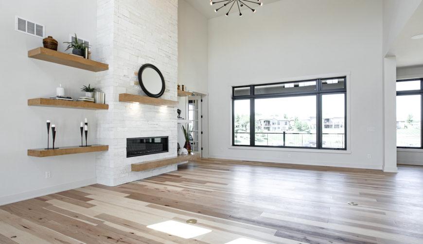 Modern Farmhouse Style Custom Built home by Timeless, White living room
