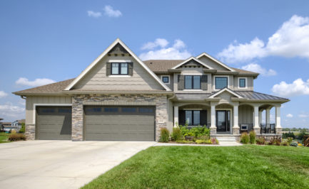 Gretna homes for sale, Cabernet Cape Cod by Woodland Homes in Aspen Creek, 2 story, Walkout Home