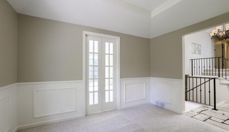 White, grey living area